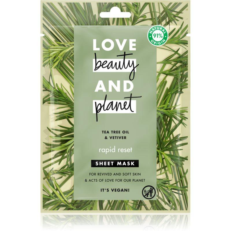 Love Beauty & Planet Rapid Reset Tea Tree Oil & Vetiver osvěžující maska 21 ml