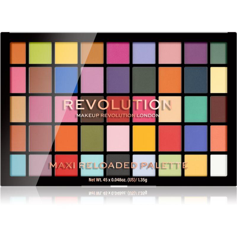 Makeup Revolution Maxi Reloaded Palette палетка пудрових тіней для повік відтінок Monster Mattes