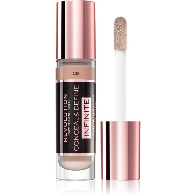 Makeup Revolution Infinite fedő korrektor a bőr tökéletlenségei ellen nagy csomagolás árnyalat C6 9 ml
