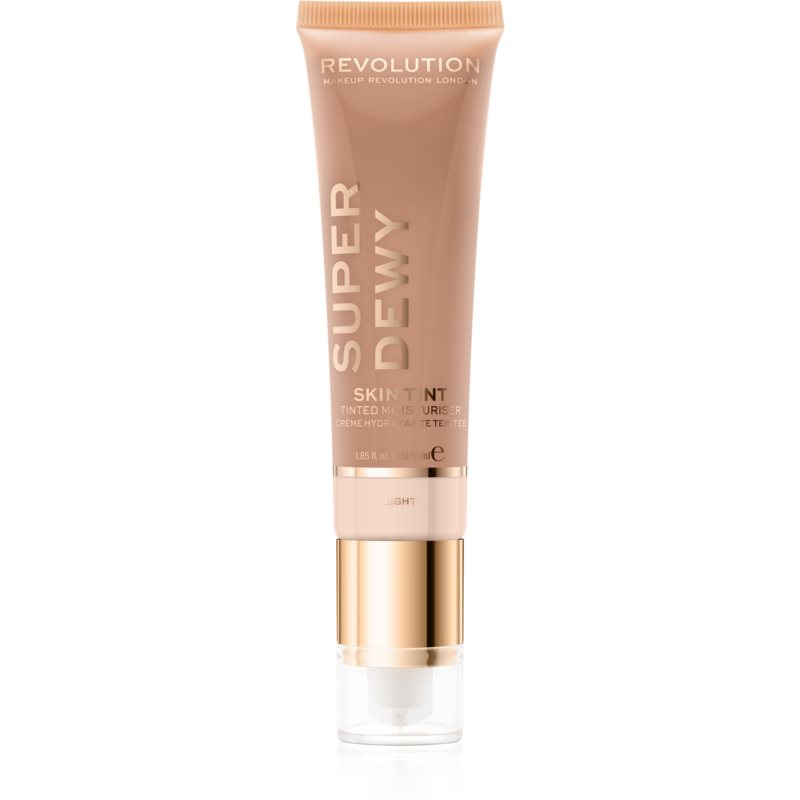 Makeup Revolution Superdewy crème teintée hydratante visage teinte Light 55 ml
