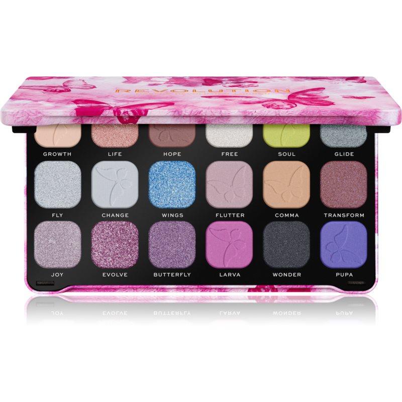 Makeup Revolution Forever Flawless paleta očních stínů odstín Butterfly 18 x 1.1 g