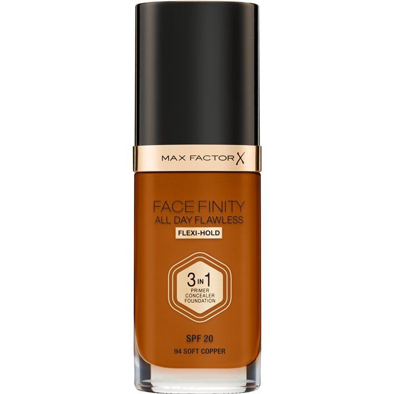 Max Factor Facefinity All Day Flawless fond de teint longue tenue SPF 20 teinte 94 Soft Copper 30 ml
