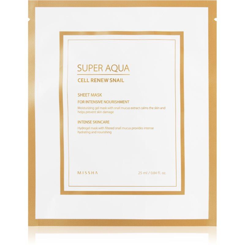 E-shop Missha Super Aqua Cell Renew Snail plátýnková maska s hydratačním a zklidňujícím účinkem s hlemýždím extraktem 25 ml