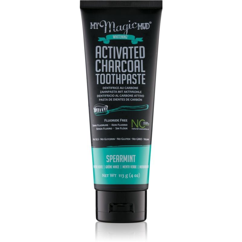 My Magic Mud Activated Charcoal dentifrice blanchissant au charbon actif saveur Spearmint 113 g