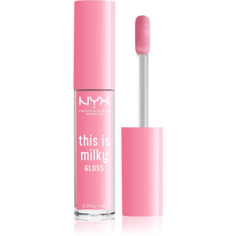 NYX Professional Makeup This is Milky Gloss brillant à lèvres hydratant teinte 04 - Milk it pink 4 ml