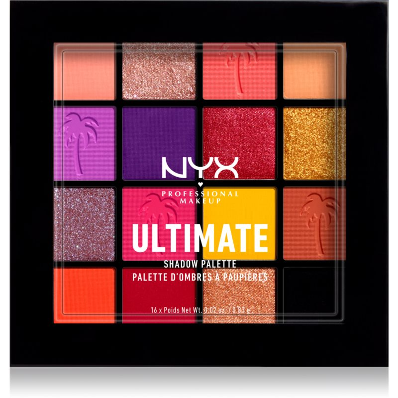 NYX Professional Makeup Ultimate Shadow paletka očních stínů odstín 13 - Festival 16 x 0.83 g