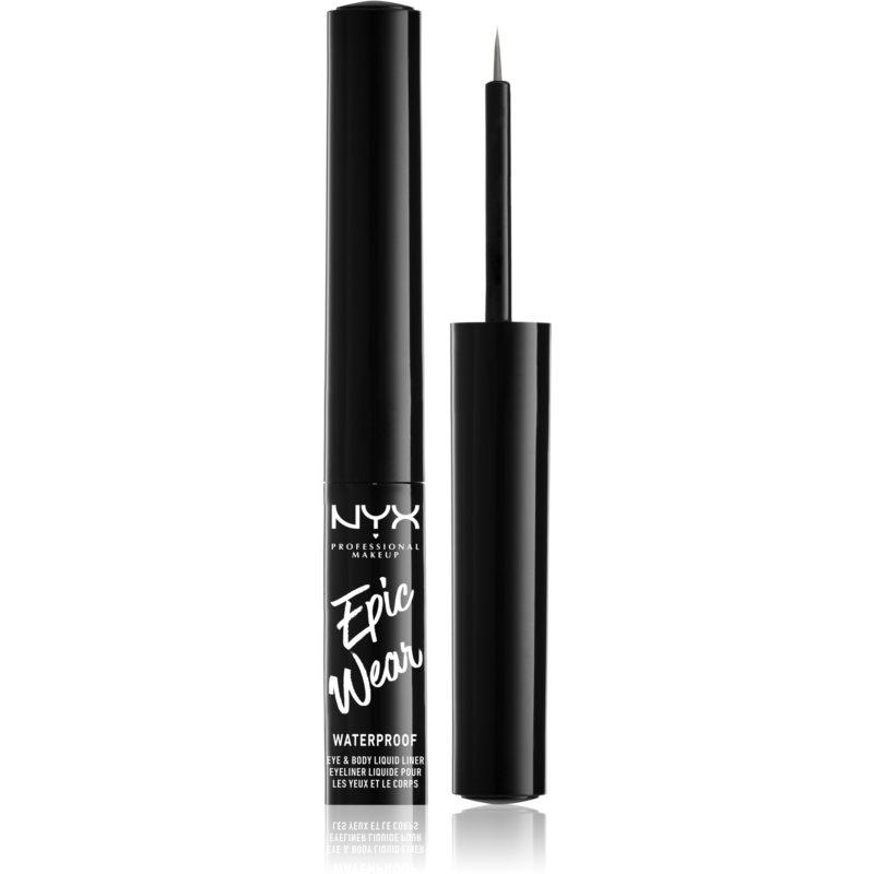 NYX Professional Makeup Epic Wear Metallic Liquid Liner dlouhotrvající gelové oční linky odstín 02 - Gun Metal 3,5 ml