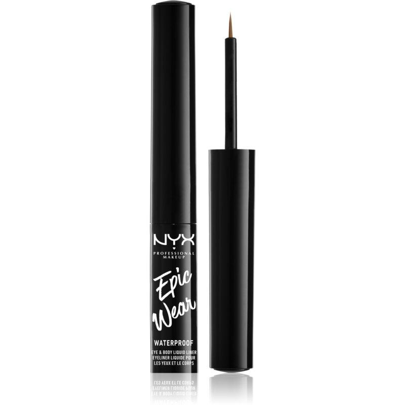 NYX Professional Makeup Epic Wear Metallic Liquid Liner dlouhotrvající gelové oční linky odstín 04 - Brown Metal 3,5 ml