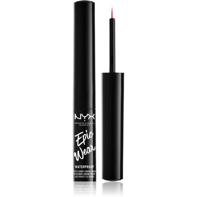 NYX Professional Makeup Epic Wear Metallic Liquid Liner dlouhotrvající gelové oční linky odstín 08 Fucshia Metal 3,5 ml