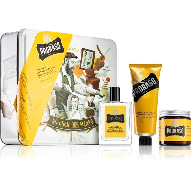 Proraso Wood and Spice borotválkozási készlet (uraknak)