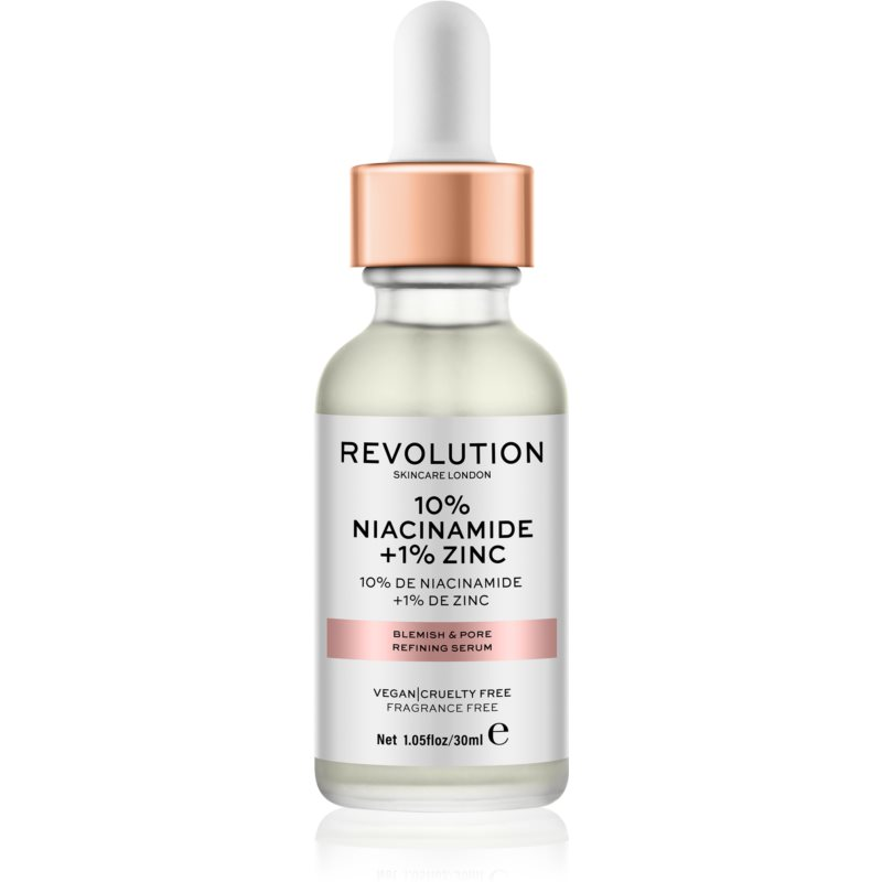 Revolution Skincare 10% Niacinamide + 1% Zinc szérum a kitágult pórusokra 30 ml