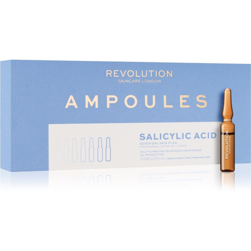Revolution Skincare 7 Day Ampoules Salicylic Acid (Blemish Preventing) ampoules anti-imperfections de la peau à tendance acnéique 7x2 ml
