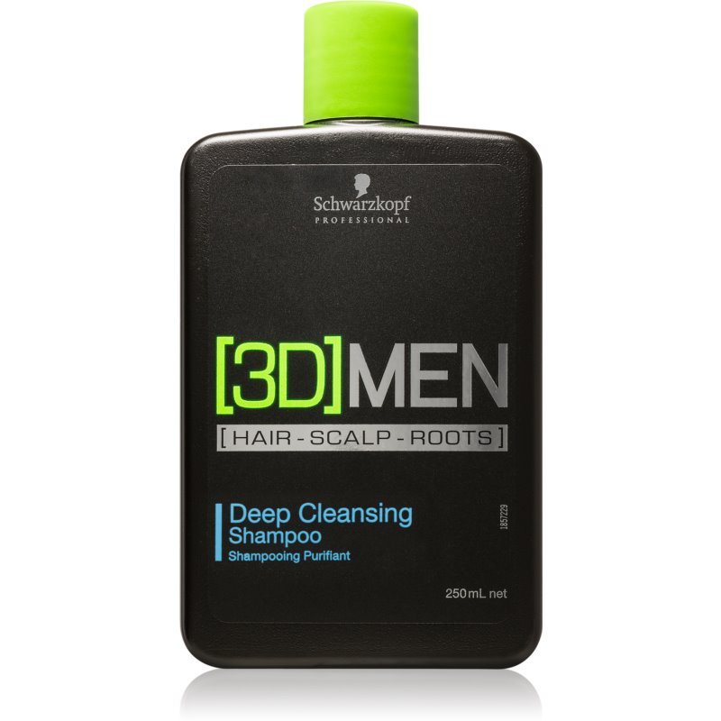 Schwarzkopf Professional [3D] MEN shampoing nettoyant en profondeur 250 ml