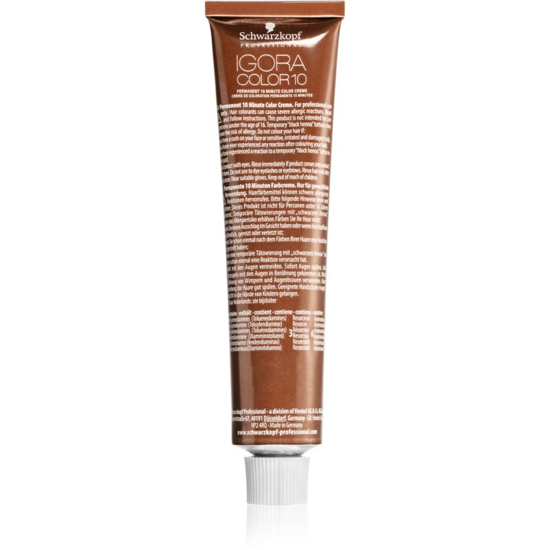 Schwarzkopf Professional IGORA Color 10 10 perces tartós hajfesték 7-5 60 ml