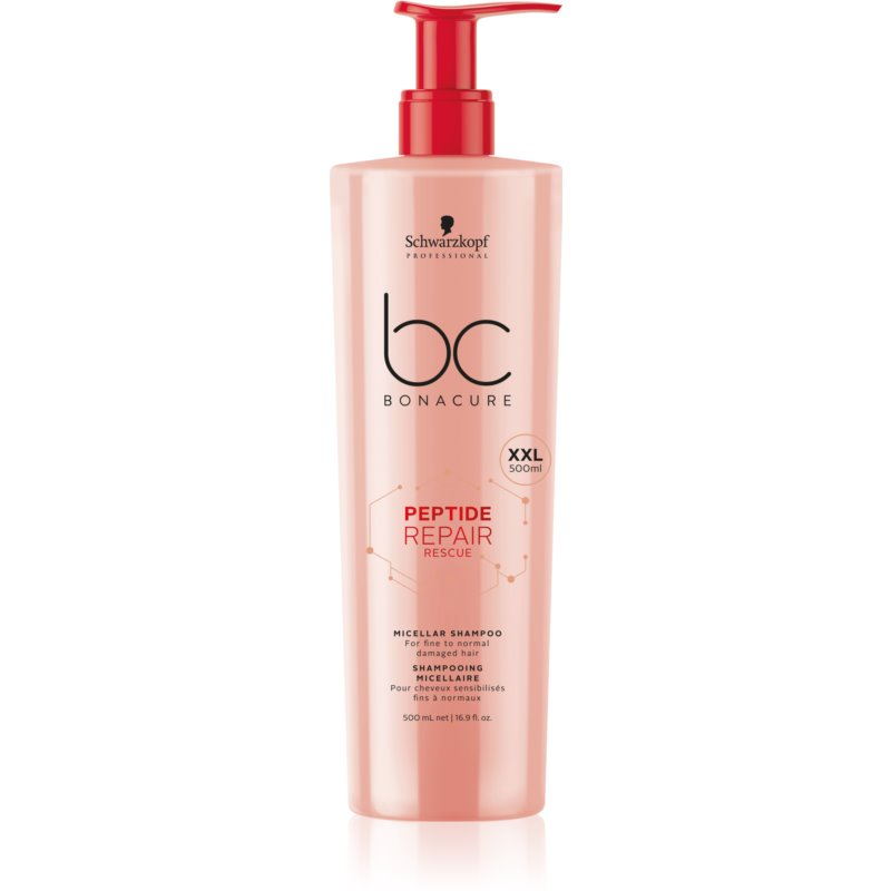 Schwarzkopf Professional BC Bonacure Peptide Repair Rescue shampoo micellare per capelli rovinati 500 ml