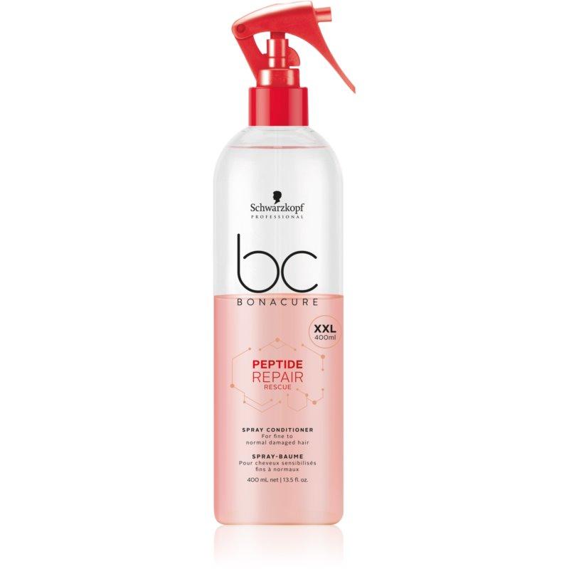 Schwarzkopf Professional BC Bonacure Peptide Repair Rescue balsamo spray per capelli rovinati 400 ml