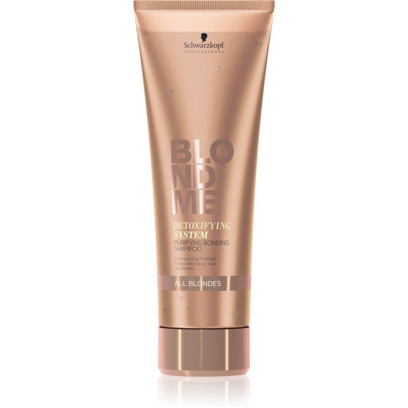 Schwarzkopf Professional Blondme shampoing purifiant détoxifiant pour tous types de blonds 250 ml