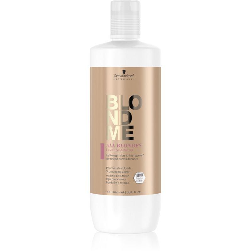 Schwarzkopf Professional Blondme All Blondes Light vyživující šampon pro jemné až normální vlasy 1000 ml