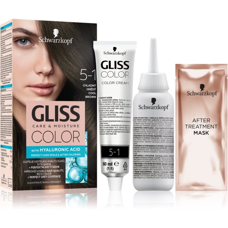 Schwarzkopf Gliss Color coloration cheveux teinte 5-1 Cool Brown