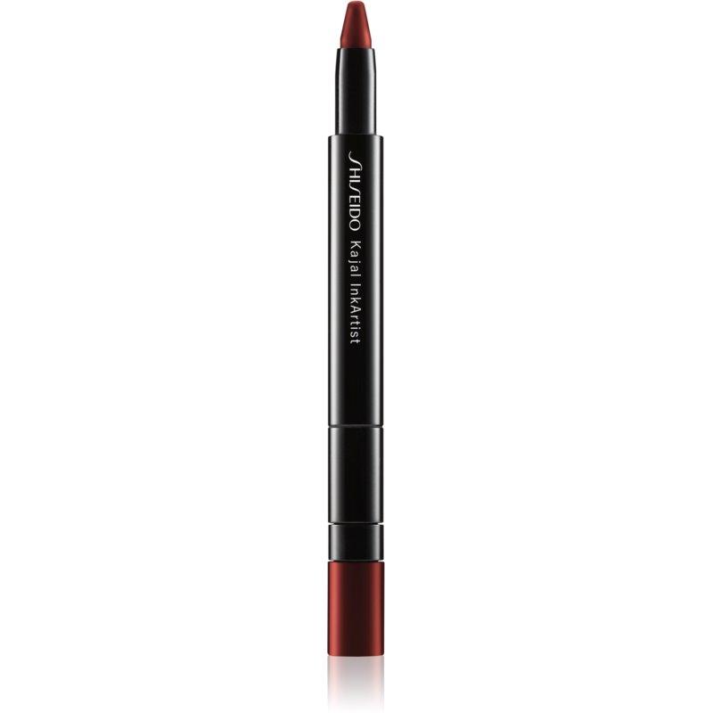 Shiseido Kajal InkArtist szemceruza 4 in 1 árnyalat 04 Azuki Red (Crimson) 0,8 g