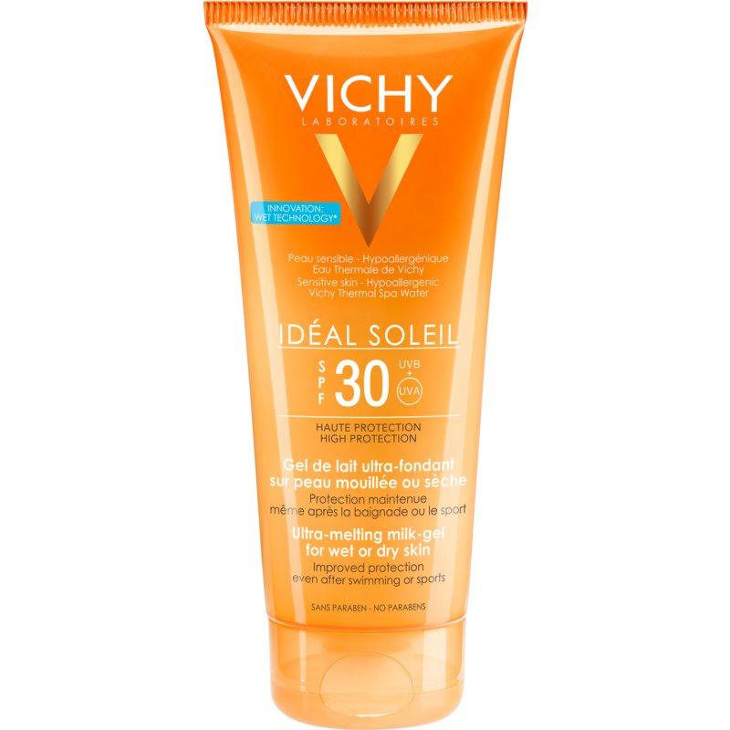 Vichy Capital Soleil gel de lait ultra-fondant pour peaux mouillées ou sèches SPF 30 200 ml