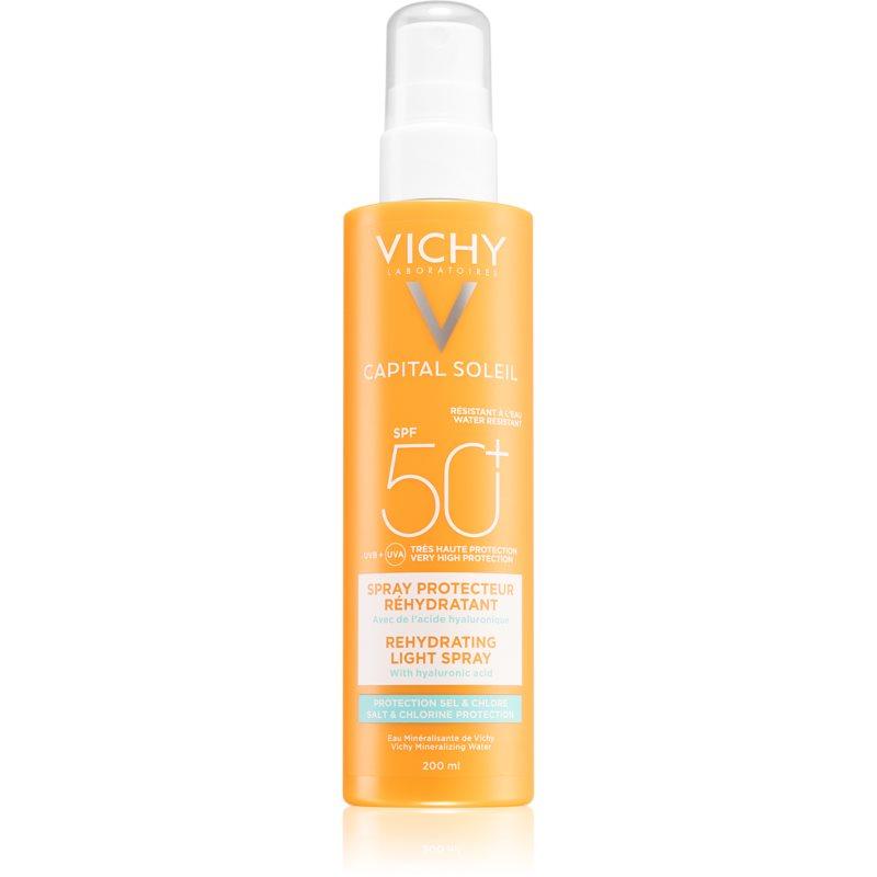 Vichy Capital Soleil Beach Protect spray multi-protecteur contre la déshydratation de la peau SPF 50+ 200 ml