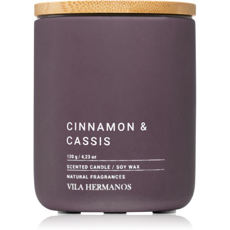 Vila Hermanos Concrete Cinnamon & Cassis candela profumata 120 g