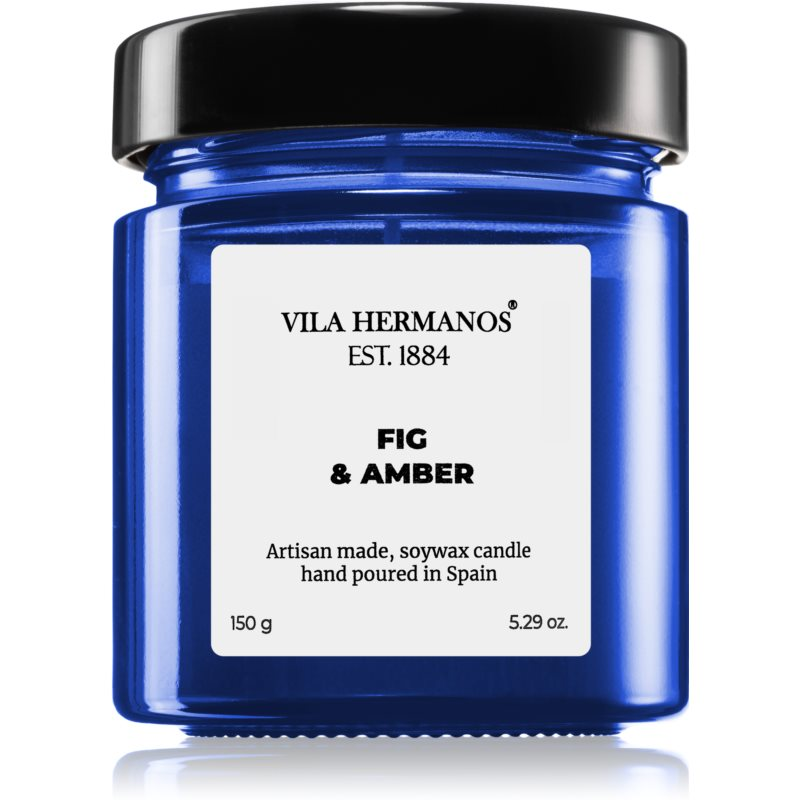 Vila Hermanos Apothecary Cobalt Blue Fig & Amber vonná svíčka 150 g