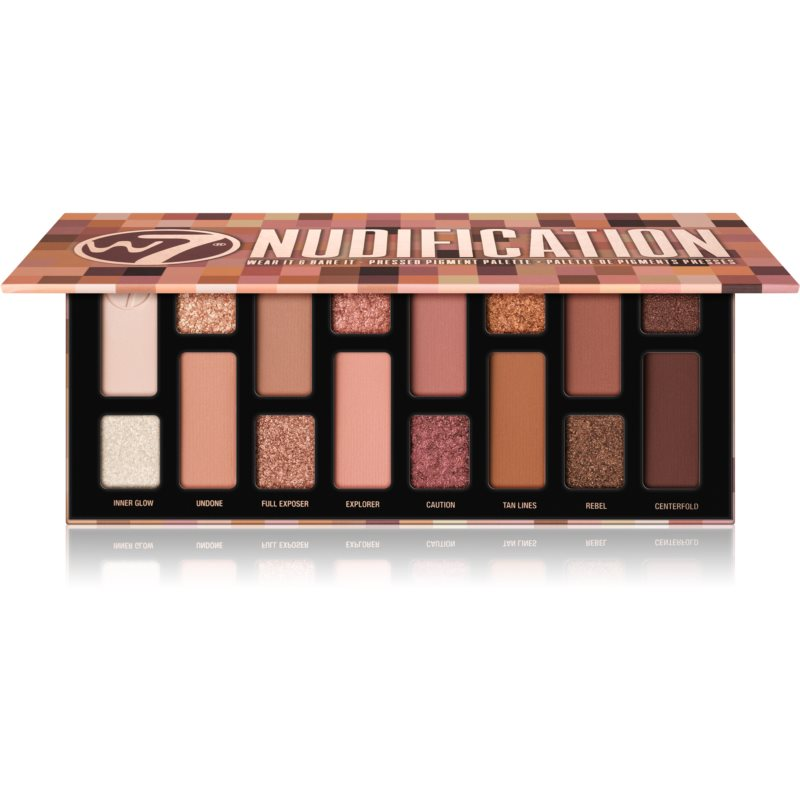 W7 Cosmetics Nudification paleta očních stínů 12 g