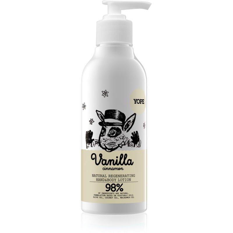 Yope Vanilla & Cinnamon lait hydratant mains et corps 300 ml