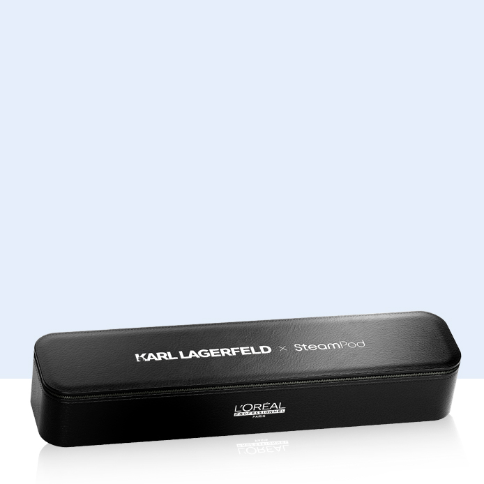 L'Oréal Professionnel Steampod x KARL LAGERFELD con un lujoso estuche de cuero