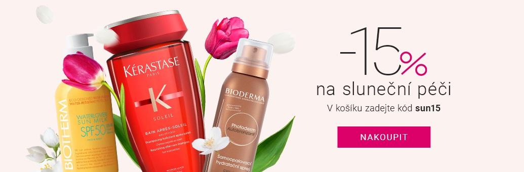 Sluneční kosmetika 15%