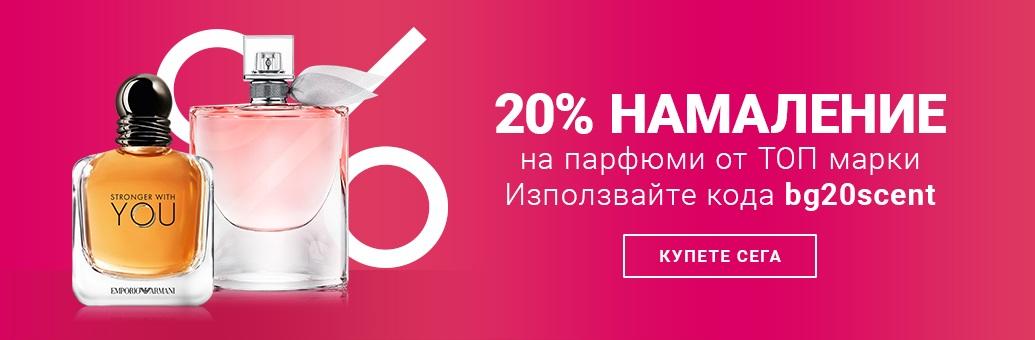 20 % sleva na parfémy vybraných značek