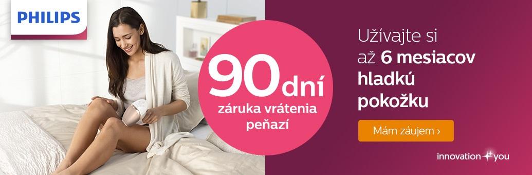 Philips 90 dní záruka vrátenia peňazí