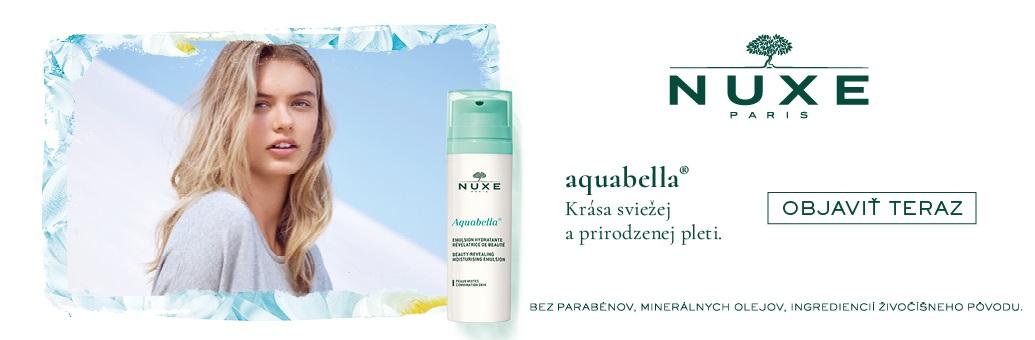 Nuxe Aquabella s modelkou