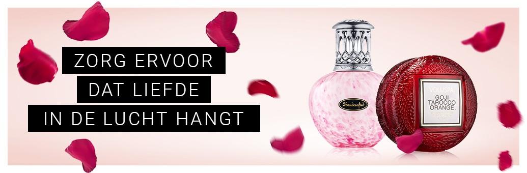 Valentijn geurkaarsen en huisparfum