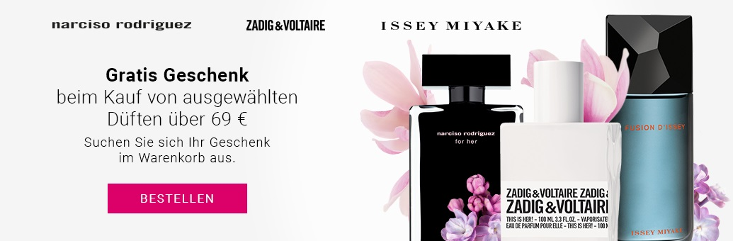 Fragrance Multibrand Narciso Rodriguez, Zadig & Voltaire, Issey Miyake