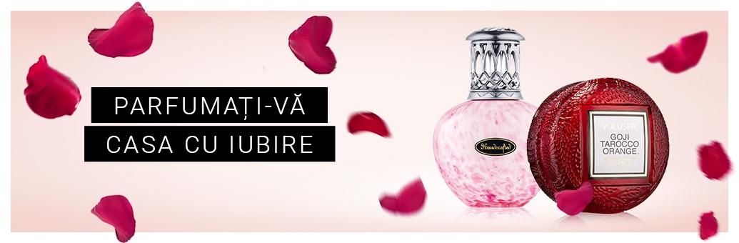 Lumânări și parfumuri pentru casă de Sfântul Valentin
