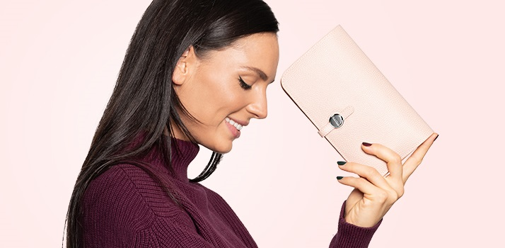 elegantná peňaženka, listová kabelka