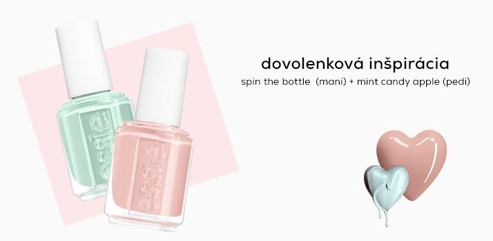 INŠPIRÁCIA NA DOVOLENKU spin the bottle (mani) + mint candy apple (pedi)