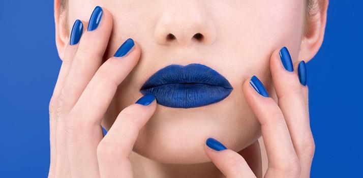 modré nechty