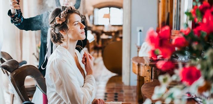 prípravy na svadobný deň