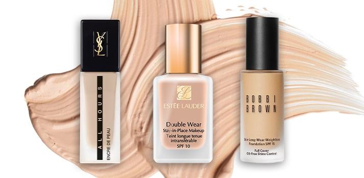 make-up-foundation-estee-lauder-double-wear-bobbi-brown-yves-saint-laurent
