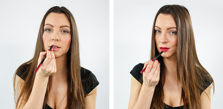 Lippen konturieren