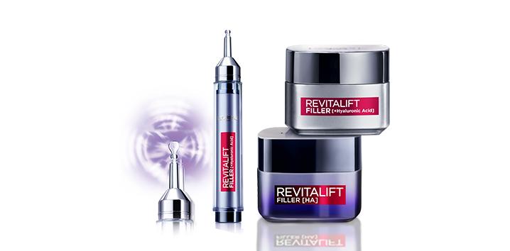 vyplnenie vrások s kozmetikou REVITALIFT od L'ORÉAL PARIS