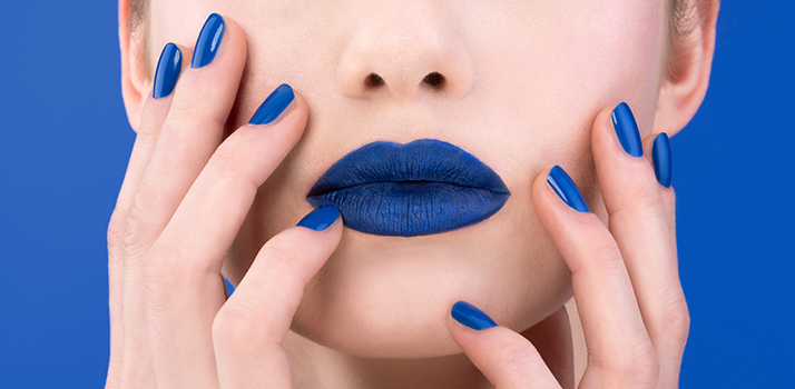 blue lips and nails