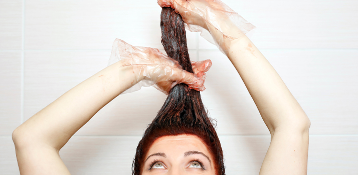 at home hair dyeing