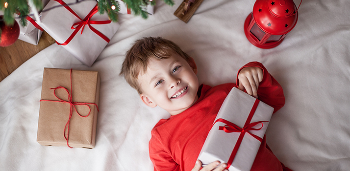 boy with a  present