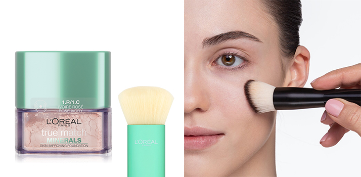 Make-up Puder auftragen
