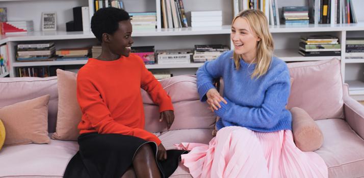 tváre kampane CK Women herečky Lupita Nyong'o a Saoirse Ronan